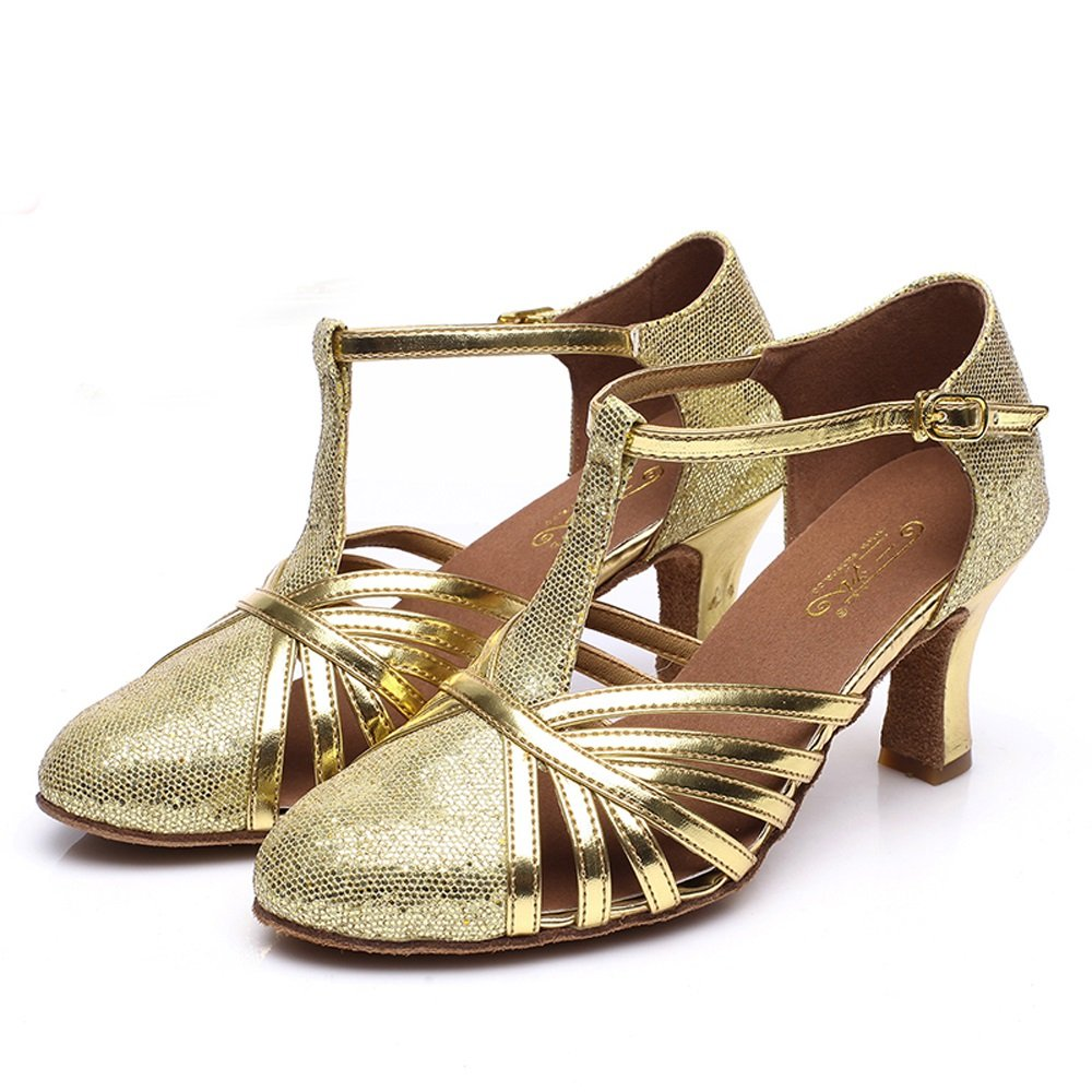 2ea9c4ae9 TMKOO& Latin dancing shoes for adult dancing shoes ( Color : Gold, Size :  40 ): Amazon.co.uk: Shoes & Bags