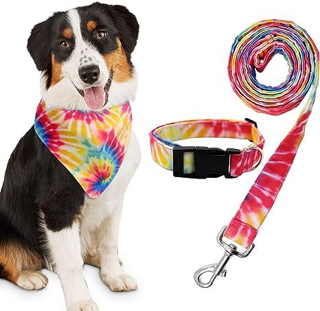 Purple Tie-Dye Swirls Tie-On Dog Bandana