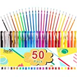 Gel Pens, 50 Pack Gel Pen Set 25 Colored Gel Pen with 25 Refills for Adults Coloring Books Drawing Doodling Crafts…