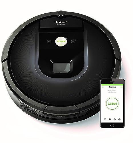 iRobot Roomba 981 Robot Aspirador para Alfombras con Potencia de Succión y Cepillos de Goma Antienredos, multi habitación, Tecnología Dirt Detect, ...