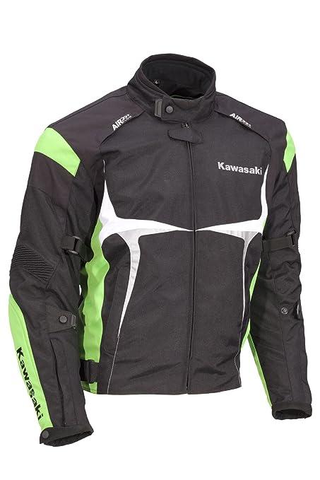 Kawasaki Sports textil Chaqueta verde. Moto Chaqueta. NUEVO. Talla XXXL Negro Verde Blanco de bikerworld: Amazon.es: Coche y moto