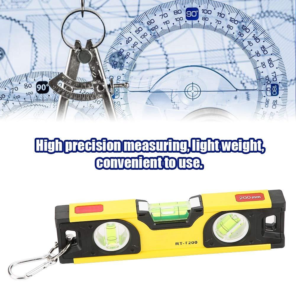 Akozon Niveau /à Bulle 200mm Haute Pr/écision Levier /à Bulle Magn/étique en Alliage daluminium