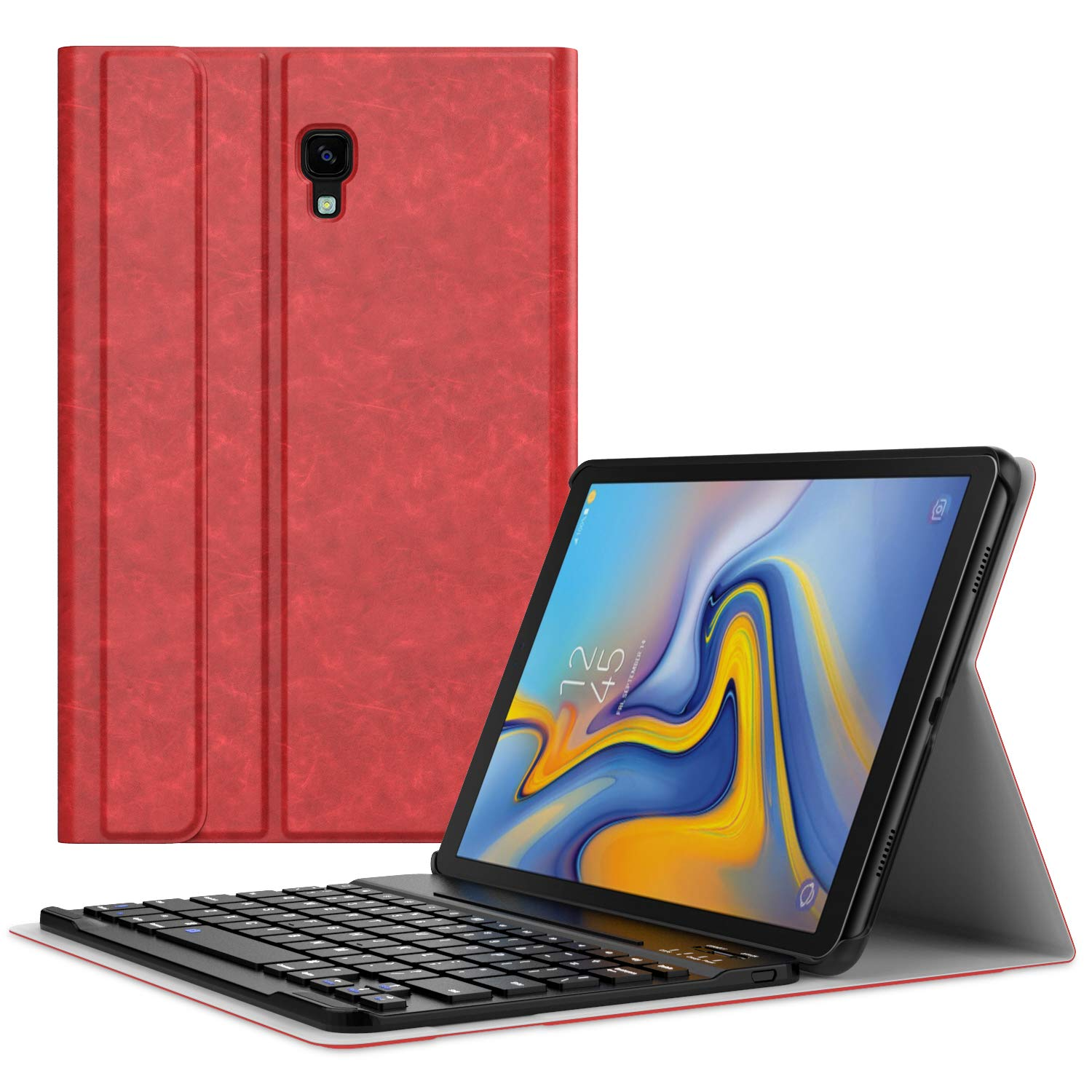 MoKo Keyboard Case for Samsung Galaxy Tab A 10.5, Ultra-Slim Detachable Wireless Bluetooth Keyboard Stand Cover for Galaxy Tab A 10.5 Inch (SM-T590 and SM-T595) 2018 Release Tablet - Starry Night PartialUpdate