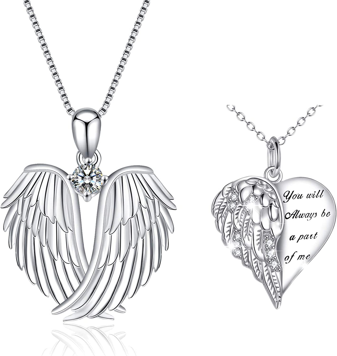 brass wings silver wings necklace christmas gift silver guitar WGN11201842 musician gift sterling guitar pendant with wings