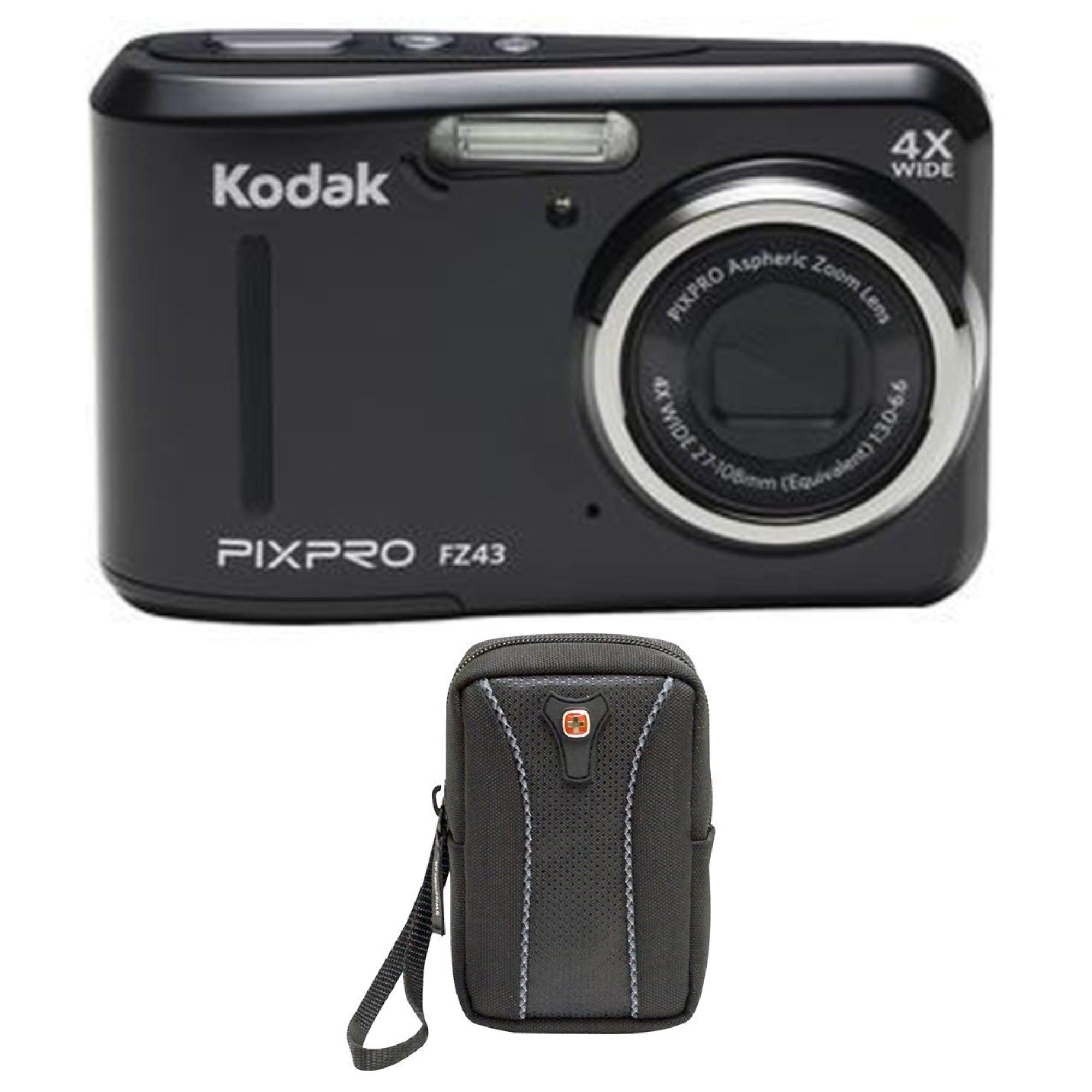 Kodak PIXPRO FZ43 16 MP Digital Camera, 4X Optical Zoom, 2.7'' LCD (Black) Bundle by Kodak