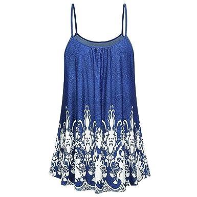 4e4e075c0ae Clearance Women Camisole Tank Tops Ladies Summer Casual Sleeveless Fashion  Print Swing Tunic Cami Vest Tops