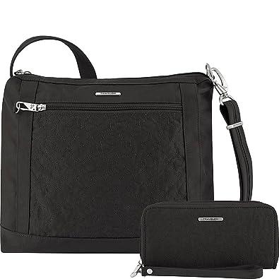 Travelon Anti-Theft Square Crossbody and Wallet Set - Medium RFID Lined  Handbag for Travel f147c7b6a69e2