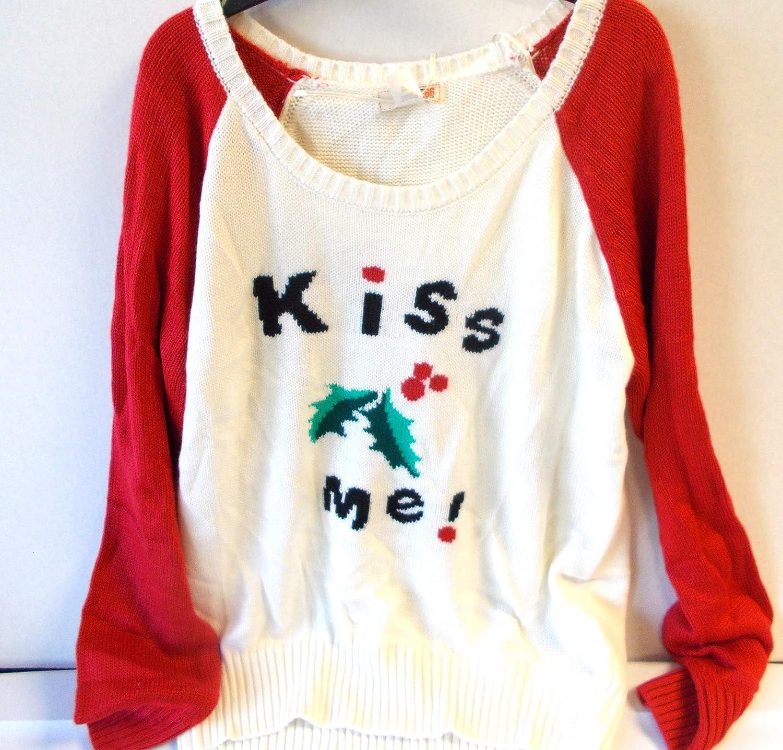 138585b6bc7375 Amazon.com: Mistletoe Kiss Me Christmas Holiday Ugly Sweater Adult Womens L  NWT: Toys & Games