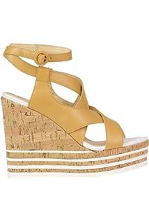 34e39a5368dc4f Hogan Femme MCBI37342 Argent Cuir Baskets: Amazon.fr: Chaussures et Sacs