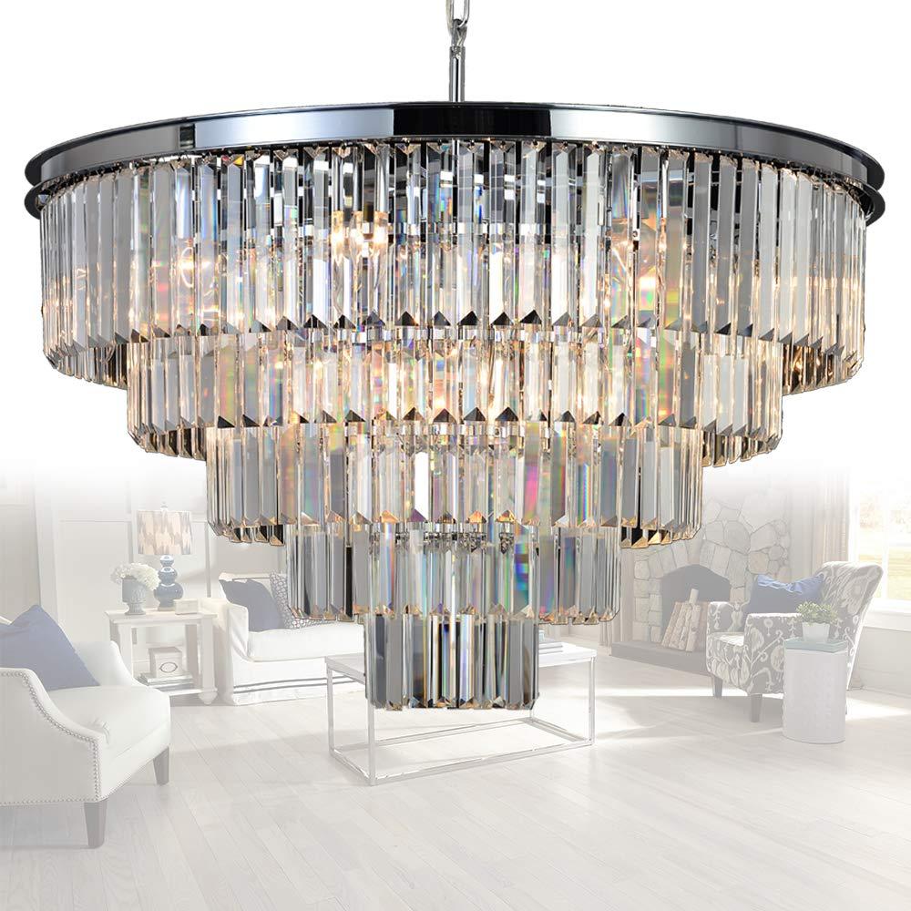 Amazon.com: MEELIGHTING 16 Lights Crystal Chandelier Modern ...