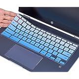 CaseBuy Keyboard Cover for HP Chromebook X360 14 inch Touchscreen, HP Chromebook 14-DA Series, HP Chromebook 14B-CA Series, HP Chromebook 14 Accessories, Ombre Blue