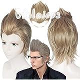 Cfalaicos Final Fantasy XV Ignis Stupeo Scientia Cosplay Wig + Glasses + Free Wig Cap