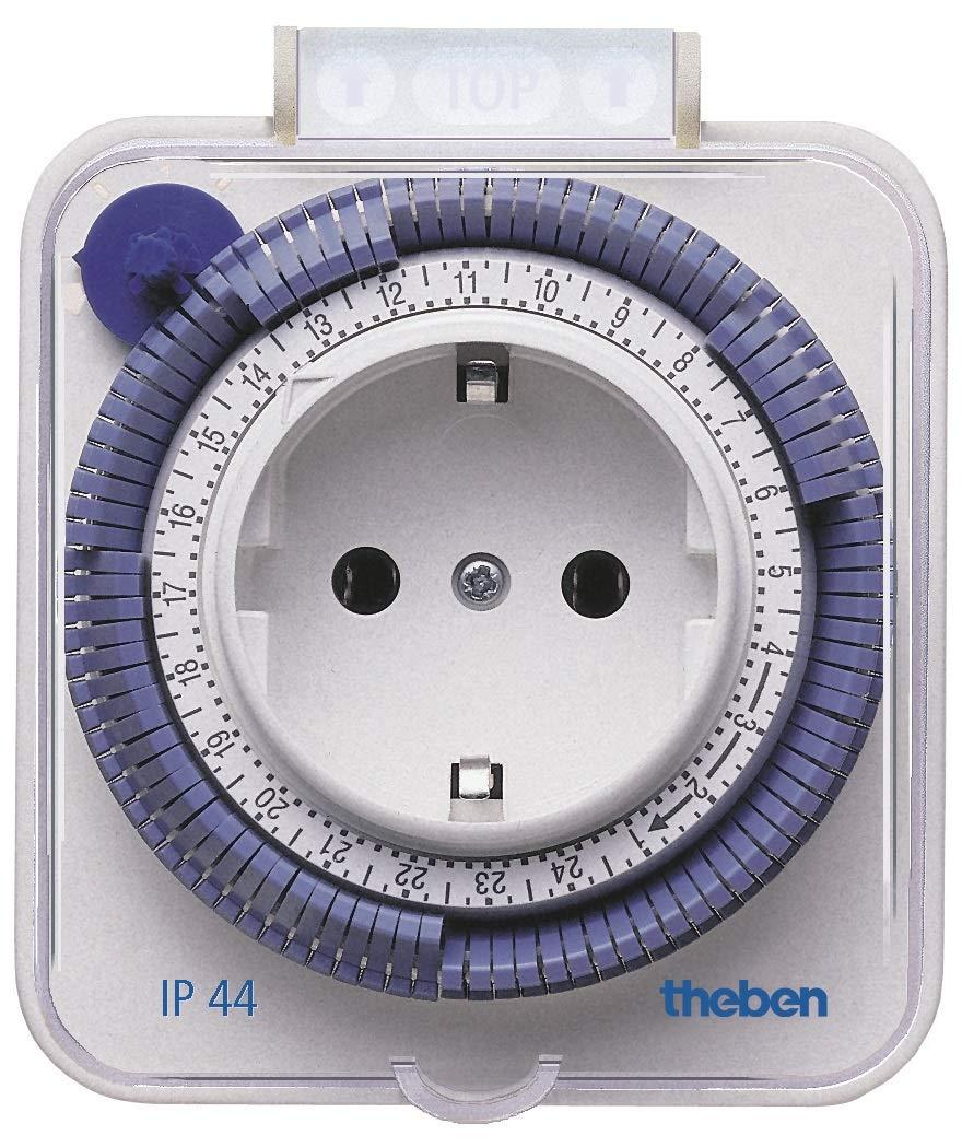 Steckdosen-Schaltuhr Theben 0260030 theben-timer 26 Zeitprogrammstecker analoge Zeitschaltuhr wei/ß