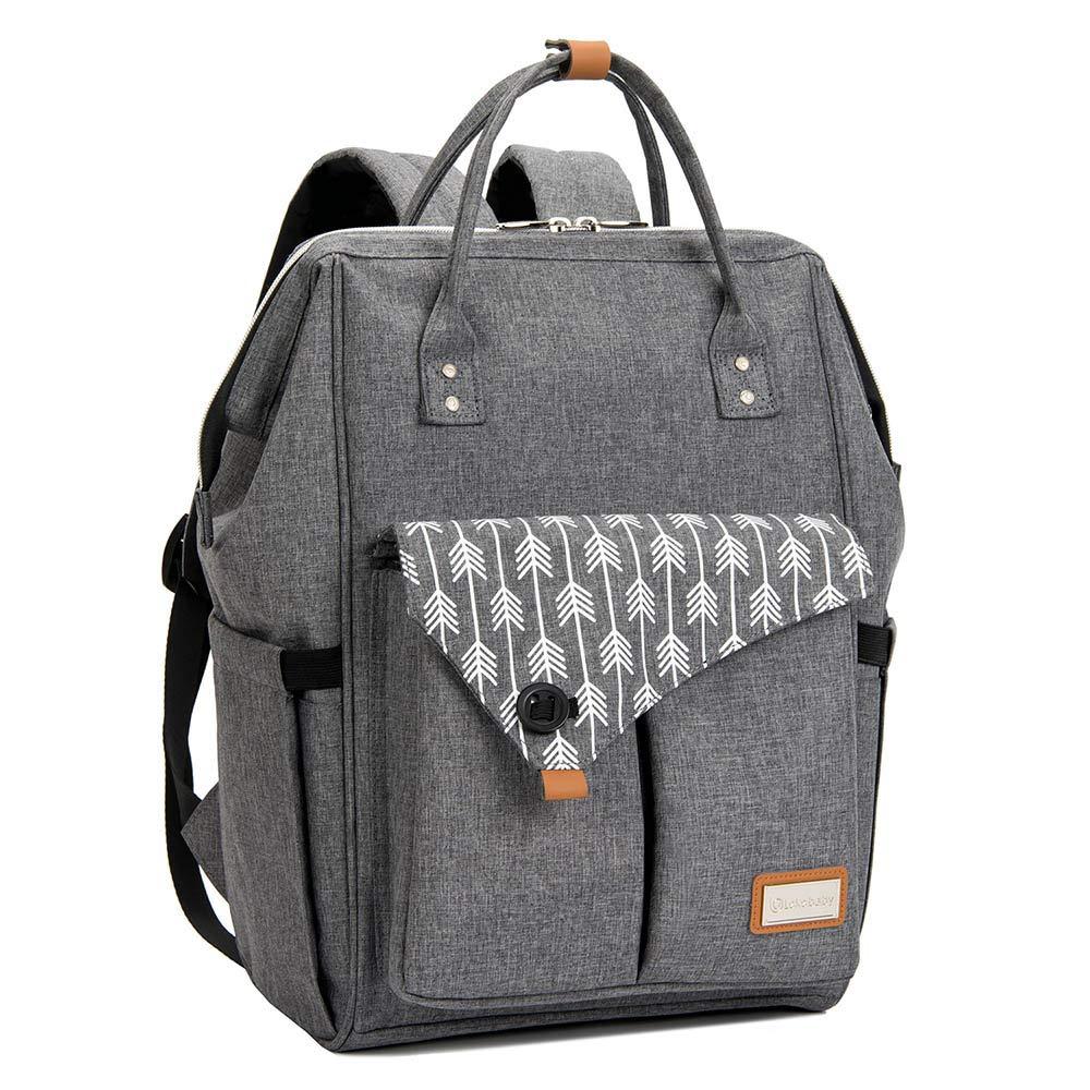 Baby Wickelrucksack Wickeltasche mit Wickelunterlage Multifunktional Große Kapazität Babytasche Reisetasche für Unterwegs, Grau product image