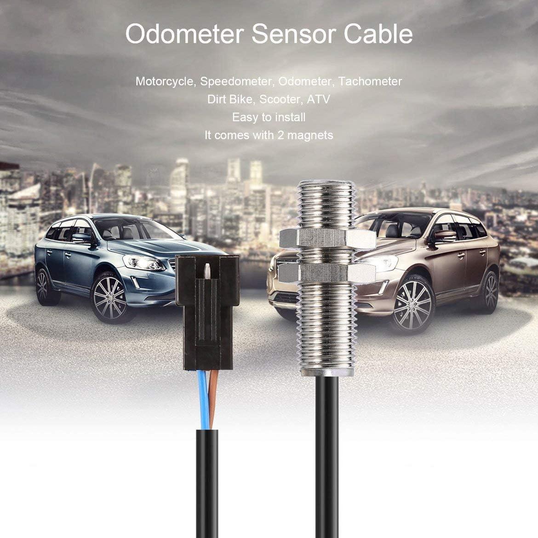 ATV Sensor digital del od/ómetro Cable 2 im/án para motocicleta Dirt Bike Scooter ATV Digital cuentakil/ómetros veloc/ímetro Tac/ómetro