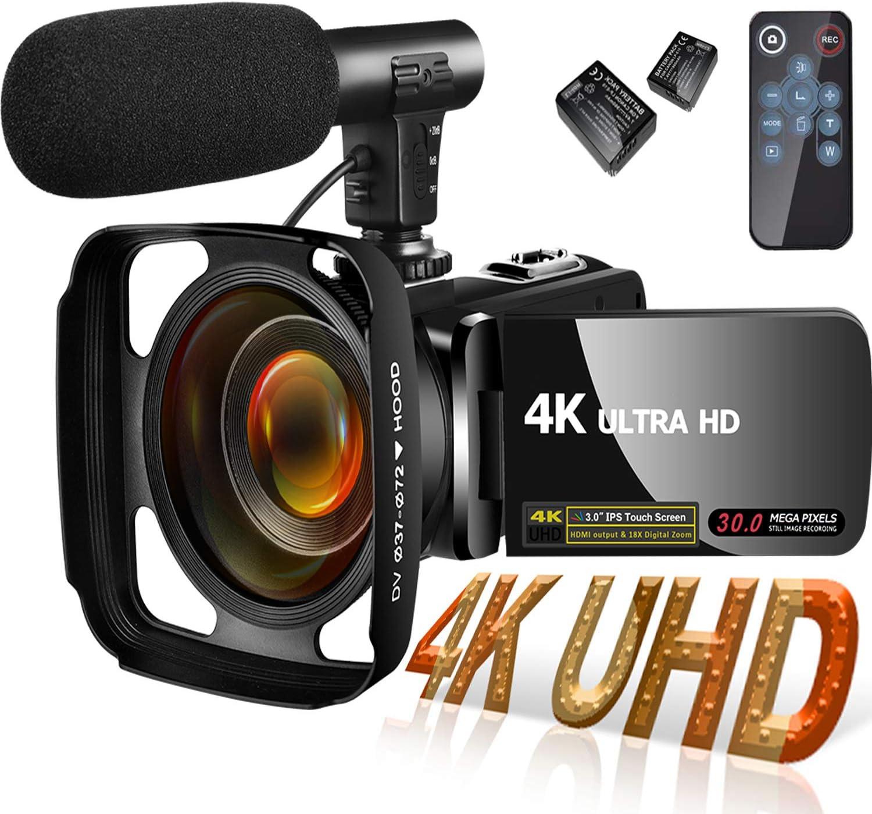 MELARQT 4K Camcorder Videokamera für YouTube
