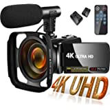 Video Camera Camcorder, Vlogging Camera for YouTube 4K UHD 30MP 18X Digital Zoom 4K Camcorder with Microphone 3 Inch IPS Touc