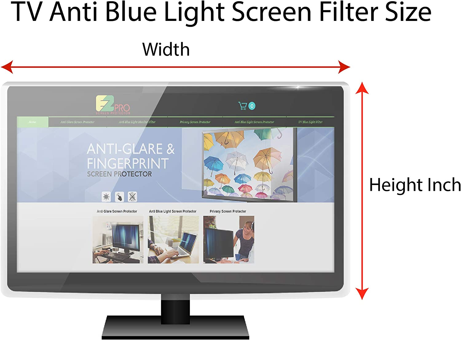Filter Out Blue Light That Relieve Computer Eye Strain and Help You Sleep Better Anti Blue Light Screen Protector Panel for 48 Inches TV