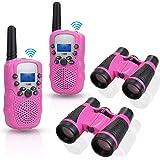 Anpro walkie talkies and Telescope Sets for Kids, 22 Channel 2 Way Radio 3 Mile Long Range Handheld Kids Walkie Talkies…