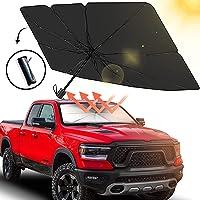 Konfulon Sedan SUV Car Windshield Sun Shade,Foldable Automotive Windshield Shade,Sunshades Car Umbrella for Windshield…
