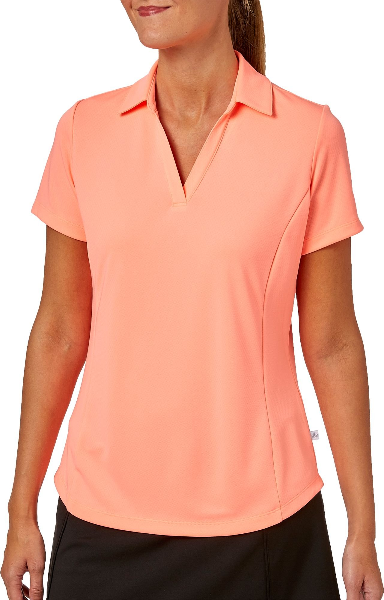 Lady Hagen Womens New Essentials Golf Polo (Coral Carnival/X-Small)
