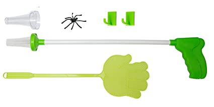 GHONLZIN Spider Catcher and Fly Swat Kit Insects Daddy Longlegs and Moths Green Ideal for Home and Workplace to Remove Spiders