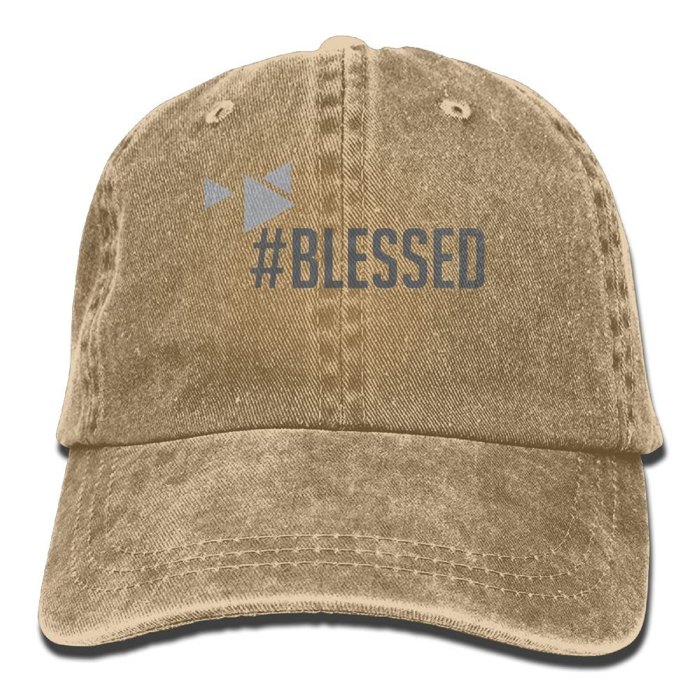 XZFQW Blessed Trend Printing Cowboy Hat Fashion Baseball Cap for Men and Women Black