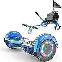 """COLORWAY Hoverboards Hover Scooter Board 6,5"""" con Asiento Kart con Ruedas de Flash LED, Patinete Eléctrico Altavoz…"""
