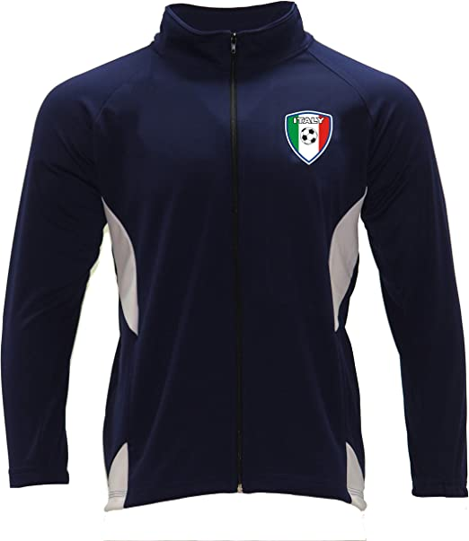 Men/'s Track Jacket Italy Color Navy Blue//White