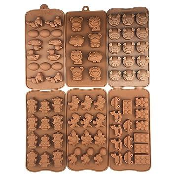 6pc silicona moldes Candy moldes, moldes Chocolate, moldes de silicona, jabón Moldes,