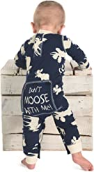 Pink Classic Moose Flapjack Youth Union Suit