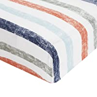 Aden By Aden And Anais Hit The Road Stripe Muslin Fitted Cot Sheet, Multicolor