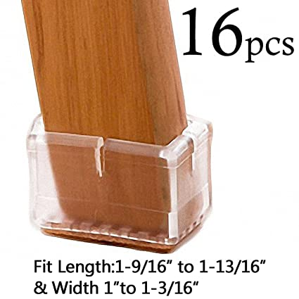 LimBridge Chair Leg Wood Floor Protectors, Chair Feet Glides Furniture  Carpet Saver, Silicone Caps
