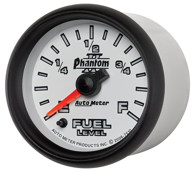 Auto Meter 7510 Phantom II 2-1/16'' Universal Stepper Full Sweep Fuel Level Programmable Empty - Full Range Gauge by Auto Meter (Image #7)