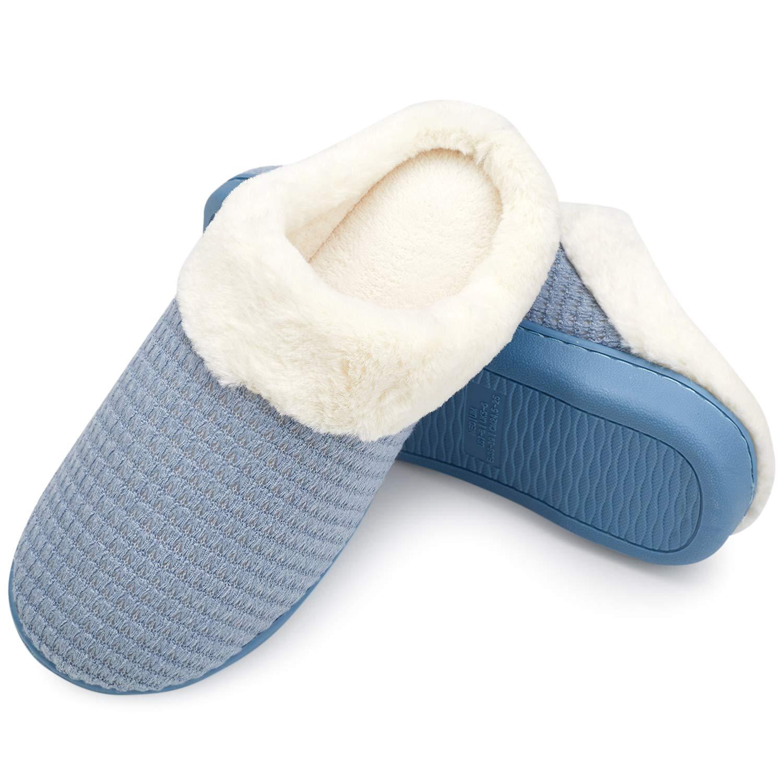 welltree Femmes B00ZP31QVY Chaussons Coton Bleu Tricoté Pantoufles Mémoire Mousse 19445 Souple Dames Chaud Laine comme Peluche Intérieur Chaussures Anti-Slip d hiver Maison Chaussures Bleu a483244 - piero.space