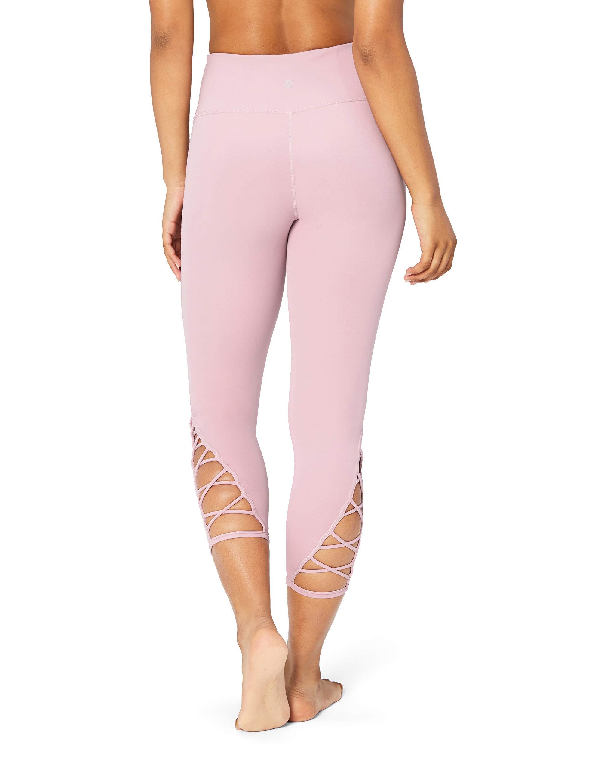 "hohe Taille 48,3/cm, XS-3X Marke: Core 10 Damen Capri-Leggings /""Spectrum/"" f/ür Yoga"