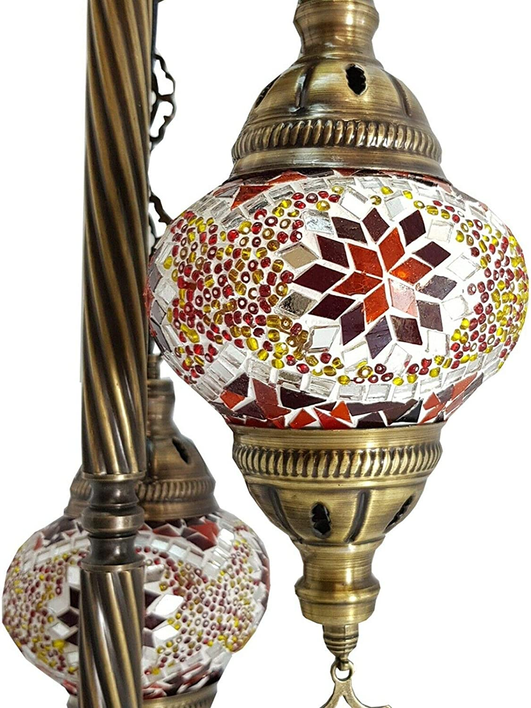 Handmade Turkish Moroccan Arabian Eastern Bohemian Tiffany Style Glass Mosaic Colourful Floor Lamp Lamps Home Decor
