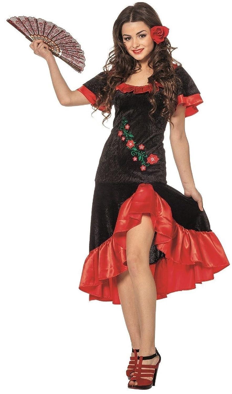 L3201090 Damen Spanierin Flamenco Kostüm
