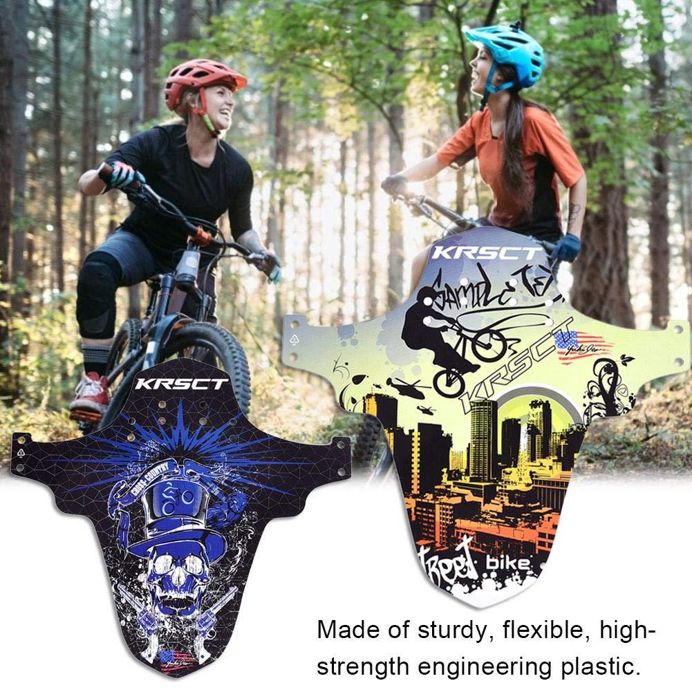 AITOCO Guardabarros de MTB Bike Fender Guardabarros Traseros de Bicicleta de Guardabarros Delanteros compatibles para Bicicletas de monta/ña
