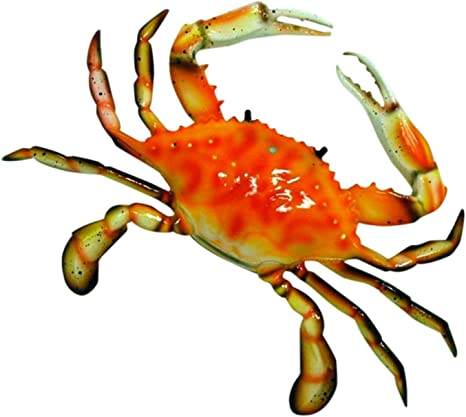 6 inch Red Maryland Blue Crab Beach Tiki Bar Wall Mount Decor Sculpture 90A-red