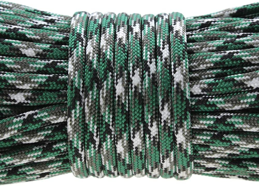 PSKOOK Paracord Lanyard Parachute Cord-7 triple strands 100FT Outdoor Camping