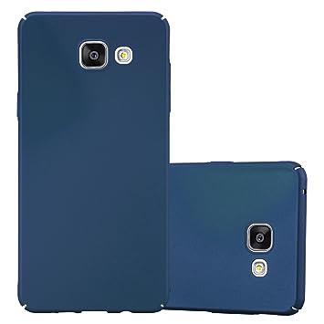 Cadorabo Funda para Samsung Galaxy A5 2016 en Metal Azul - Cubierta Protección de Plástico Duro Super Delgada e Inflexible con Antichoque - Case Cover ...