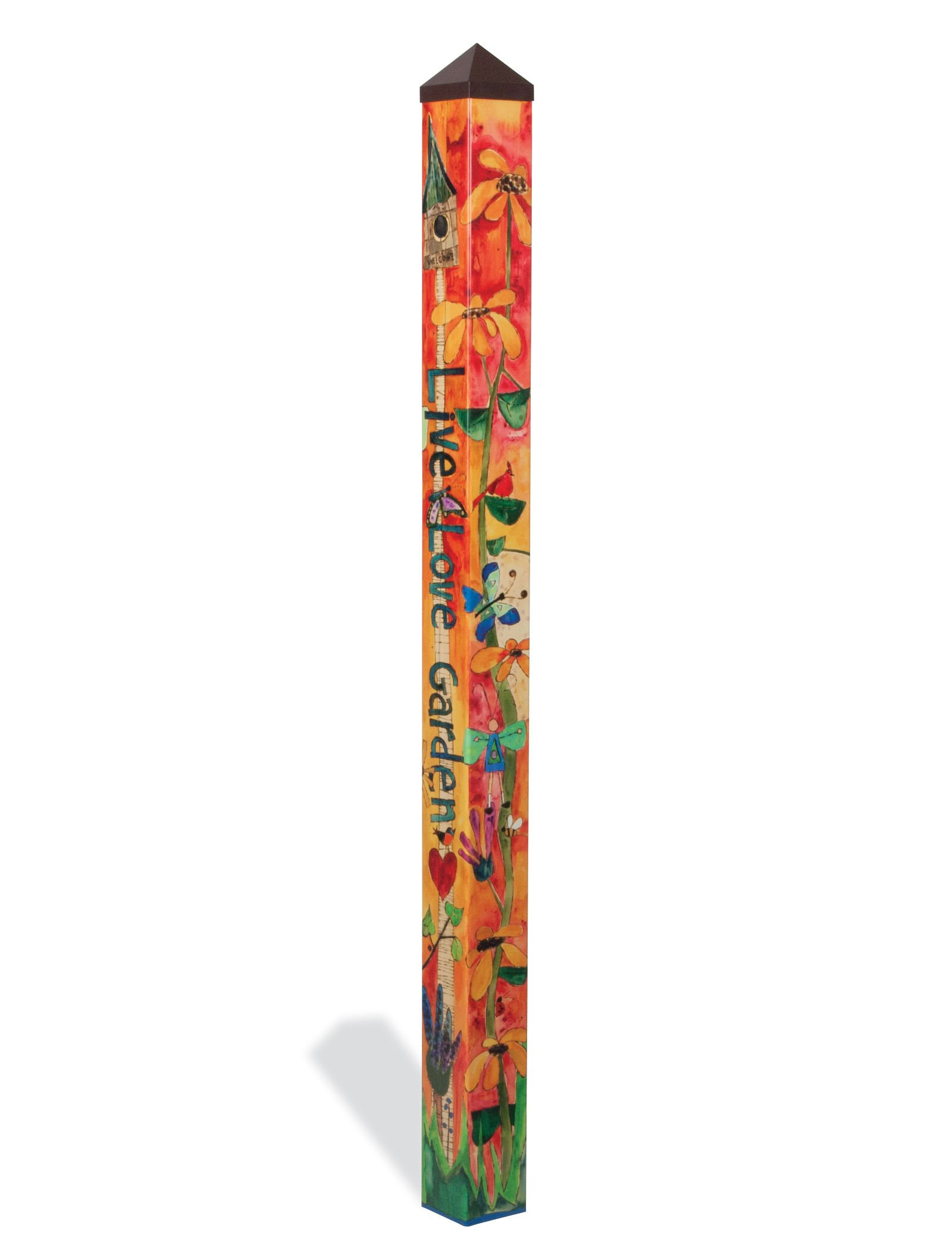 Love Garden Art Pole