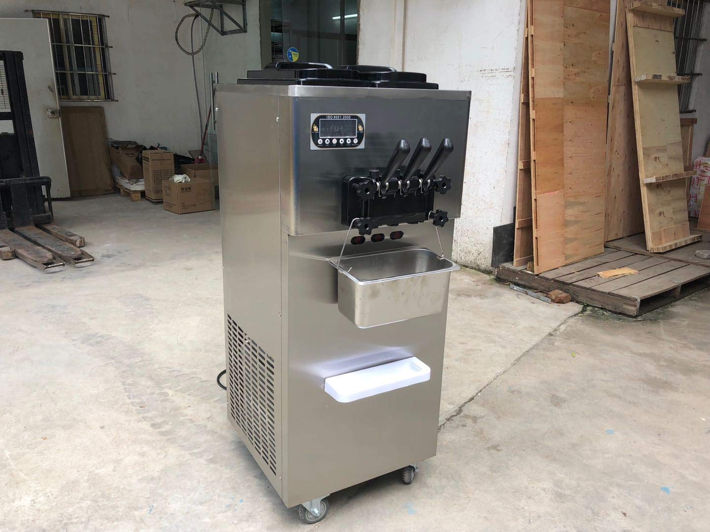 Free shipment to door high production capacity cheap price Kolice yogurt soft serve ice cream machine taylor 2+1 mixed flavors soft ice cream machine with 2*10L big hopper, 2*2L big cylinder,Stainless steel beater,gear box,Panasonic compressor,auto precooling, countering function
