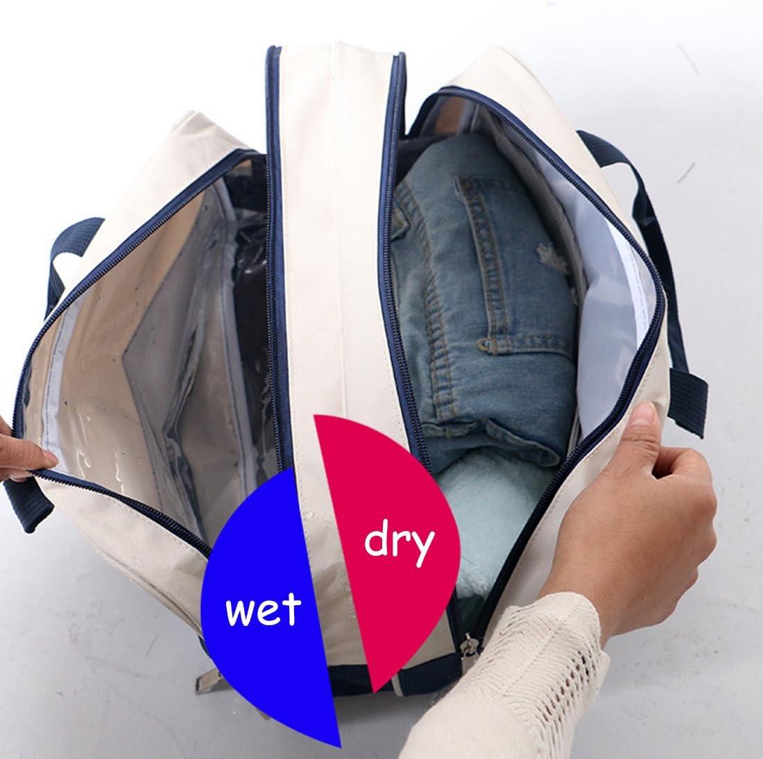 /Étanche Sac Pour les voyages S/éparation pour les produits humides et secs Dooppa Trousse de toilette les produits cosm/étiques Pour le maquillage