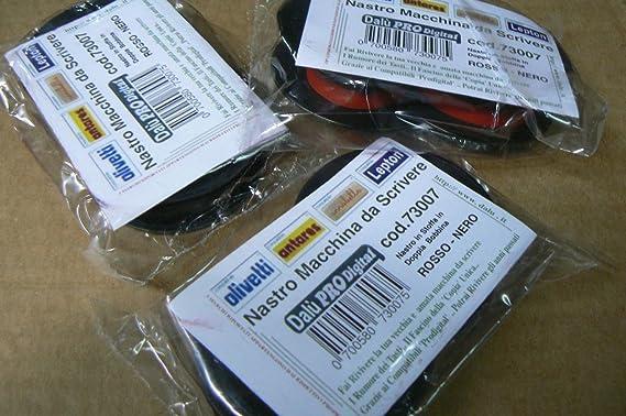 Pro-Digital CIR - Cinta de tela de doble carrete para máquina de escribir, color rojo y negro: Amazon.es: Electrónica