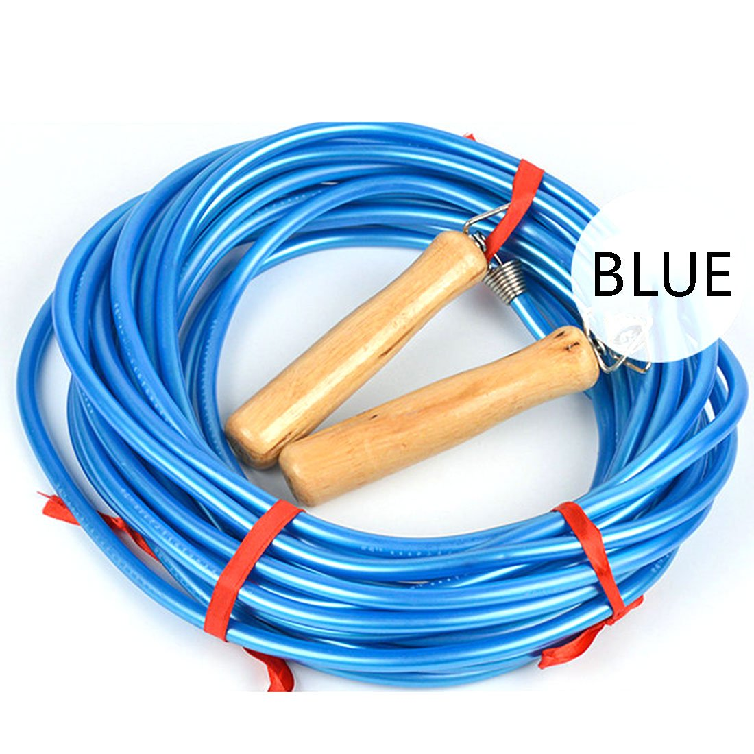 Jump Rope Workout, Petforu 16-Feet PVC Skipping Rope Fitness Exercise for Multiplayer (BLUE)