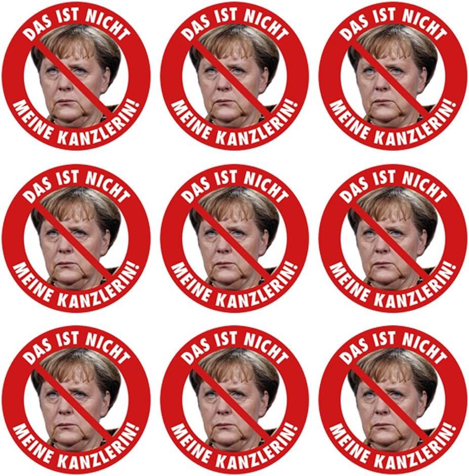 Aufkleber Sticker Das Ist Nicht Meine Kanzlerin Aufkleber Set 9 Stück Angela Merkel Protest Merkel Muß Weg Demo Deutschland Regierung Schnauze Voll Auto