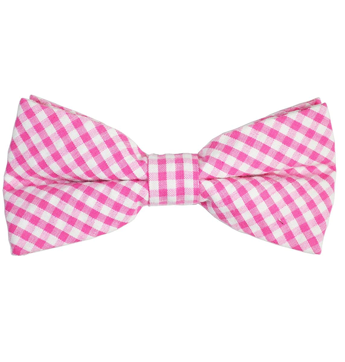 Paul Malone Cotton Bow Tie Pink Gingham