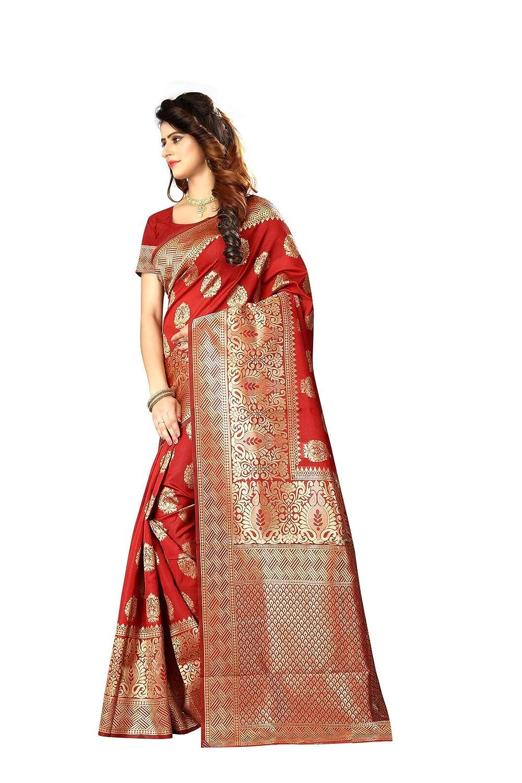04abe5aac6 Amazon.com: New Indian/Pakistani Ethnic Designer Multi Color Banarasi Silk  Party Wedding Saree P 20 (Black): Clothing